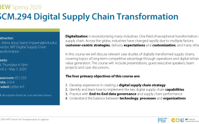 New Course – Digital Supply Chain Transformation